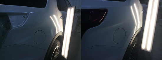 dent and crease repair, before and after